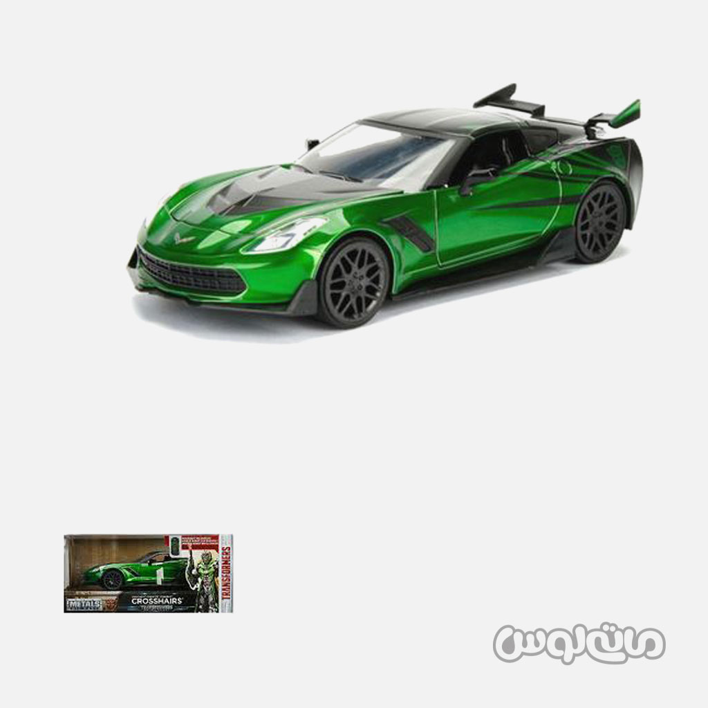 ماشین مدل شورلت کوروت سبز سری ترنسفورمر جادا