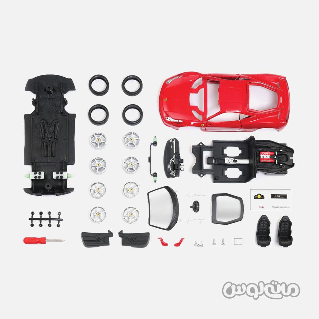ماشین مدل فراری 458 1:24 سری اسمبلی مایستو