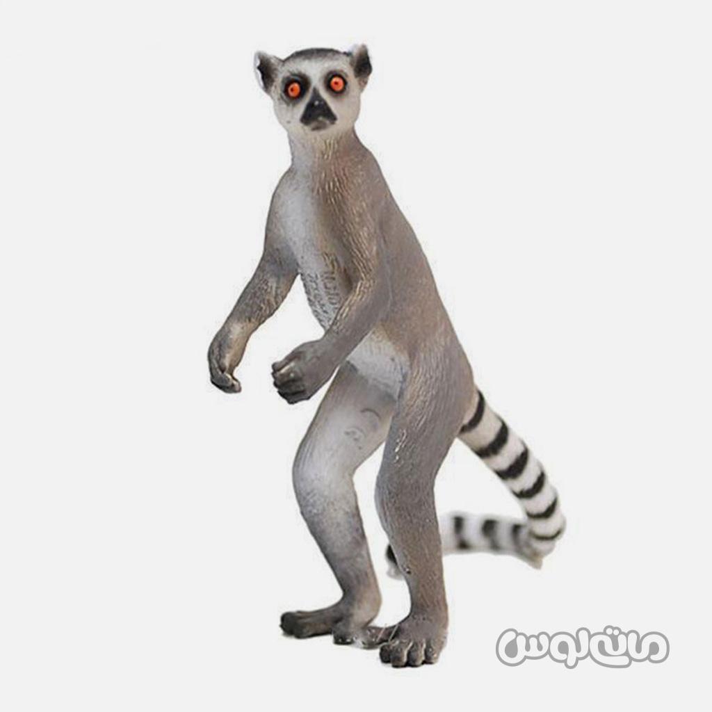فیگور لمور شبیه به میمون و موش به رنگ طوسی موجو