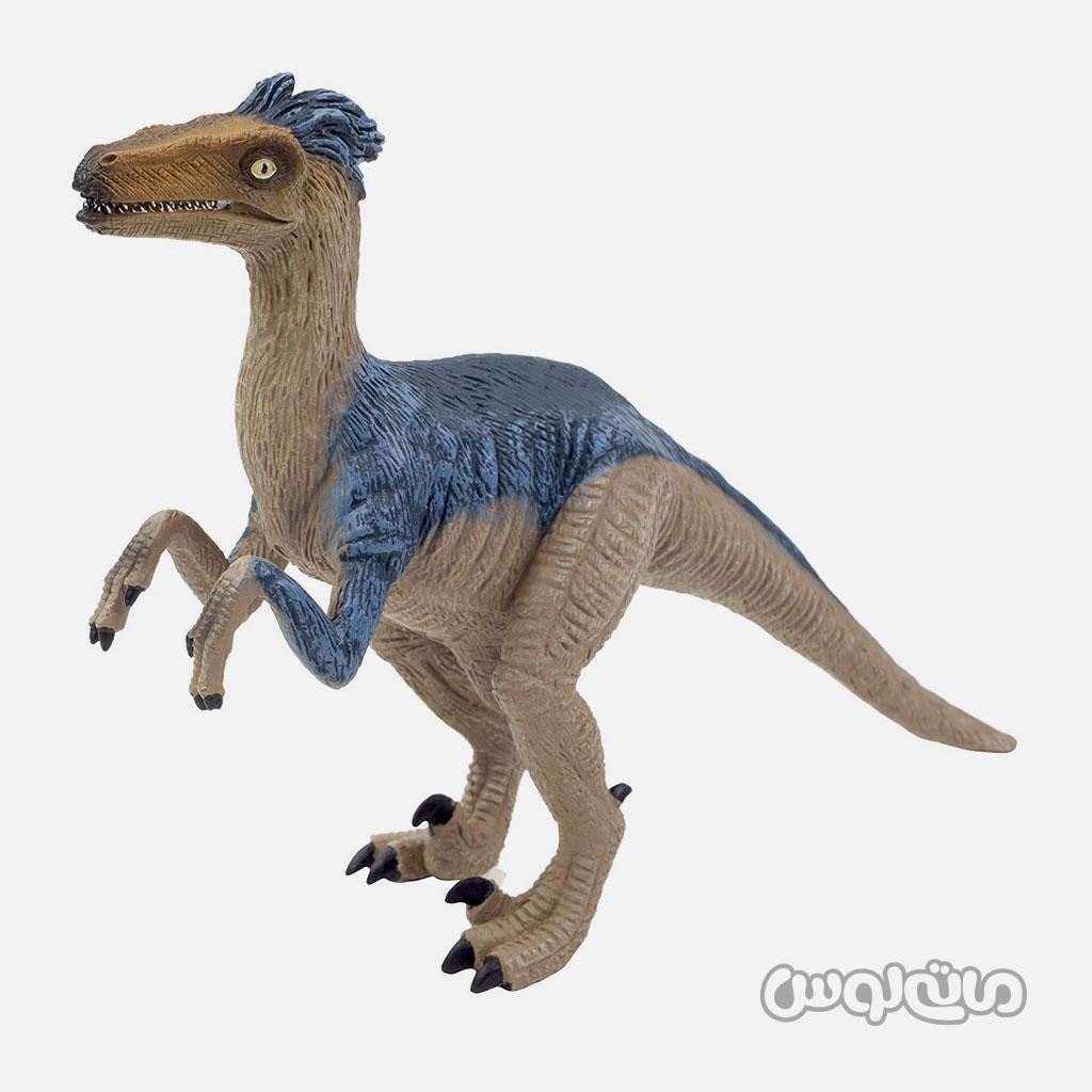 فیگور دایناسور ولیسراپتور دلوکس آبی خاکستری موجو
