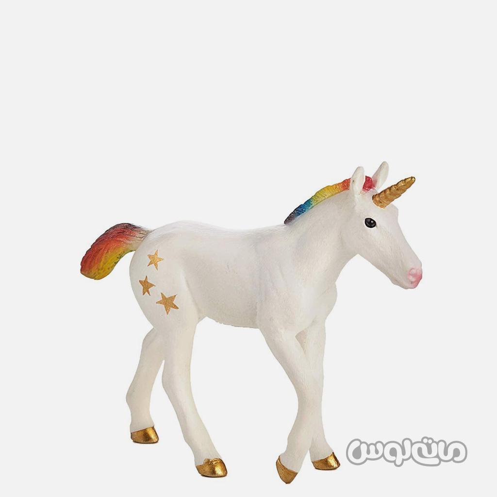 فیگور بچه اسب تک شاخ رنگین کمان موجو