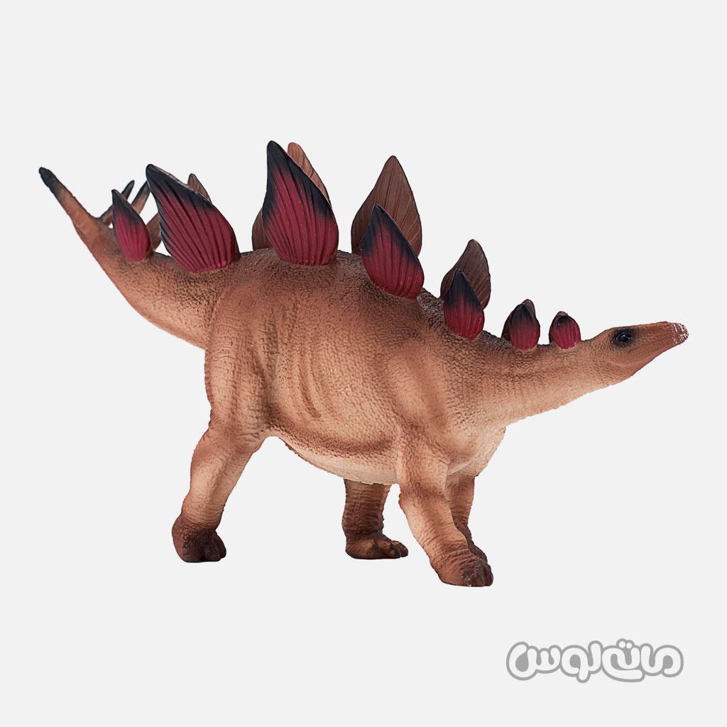 فیگور دایناسور استگوساروس با پوشش زطهی به رنگ قرمز و قهوه ای موجو