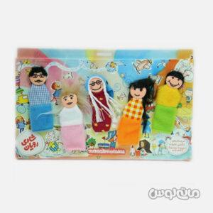 5 عروسک انگشتی خانواده شادی رویان طرح پسر و دختر خانواده پدر و مادر خانواده و مادربزرگ