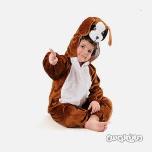 لباس سرهمی کاستوم قهوه ای سگ سایز 1 شادی رویان