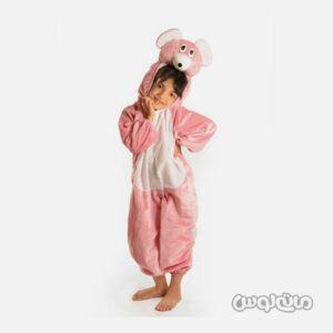 لباس سرهمی کاستوم صورتی تن پوش موش سایز 1 شادی رویان