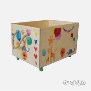 جعبه اسباب بازی چوبی چرخدار پوپولوس