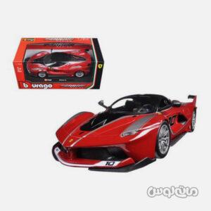 اتومبیل مدل فراری ریسینگ قرمز و مشکی همراه با جعبه بوراگو