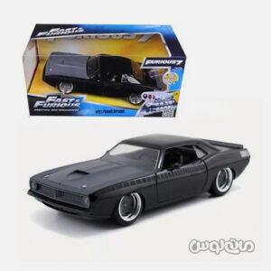 اتومبیل مدل پلیموث باراکودا مشکی همراه با جعبه