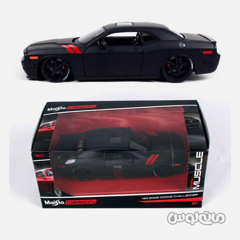 اتومبیل مدل 1:24 دوج چلنجر 2008 سری ماسل مدرن مایستو