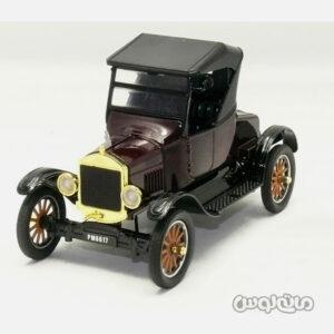 اتومبیل مدل فورد 1925 مشکی با بدنه زرشکی از رو به رو موتورمکس