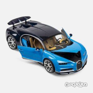 اتومبیل مدل بوگاتی چیرون آبی مشکی با قابلیت باز شدن درب ها برند ولی