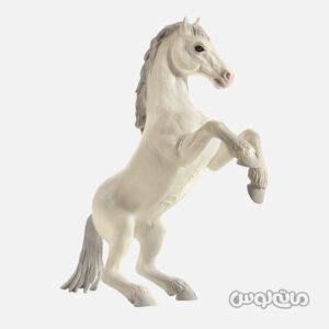 فیگور اسب وحشی ایستاده سفید موجو