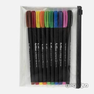 روان نویس 10 رنگ با دفترچه آرت لاین