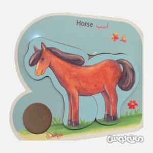 پازل چوبی اسب دهکده