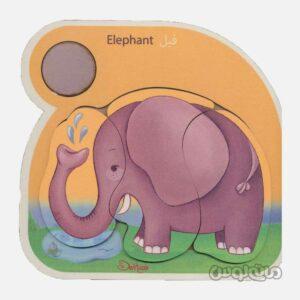 پازل چوبی فیل دهکده