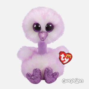 عروسک پلاش شتر مرغ بنفش تی وای