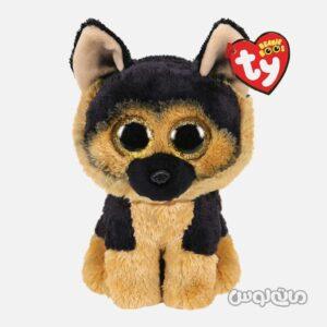 عروسک پلاش سگ مشکی قهوه ای تی وای