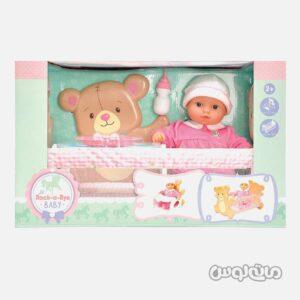 عروسک نوزاد با تخت خواب و صندلی غذا لوتوس