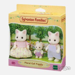 ست فیگور خانواده گربه فلورال سیلوانیان فامیلیز