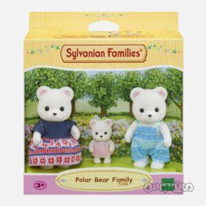 ست فیگور خانواده خرس قطبی سیلوانیان فامیلیز