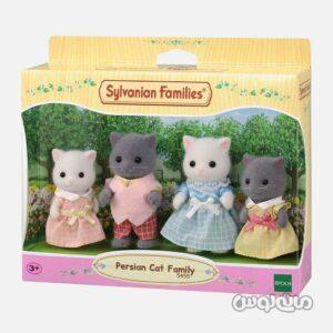 ست فیگور خانواده گربه پرشین سیلوانیان فامیلیز