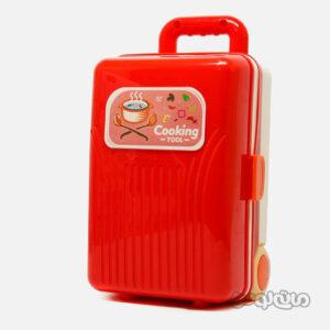 اسباب بازی چمدان قرمز 4 در 1 آشپزی لیرانجی