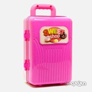 اسباب بازی چمدان صورتی 4 در 1 شیرینی لیرانجی