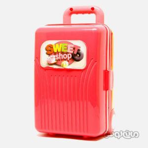 اسباب بازی چمدان گلبهی 4 در 1 شیرینی لیرانجی