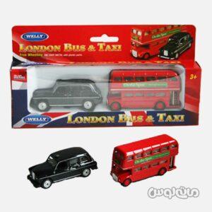 اسباب بازی تاکسی و اتوبوس لندن ولی
