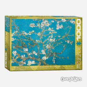 پازل 1000 تکه نقاشی شکوفه های بادام اثر ونسان ون گوگ یوروگرافیک