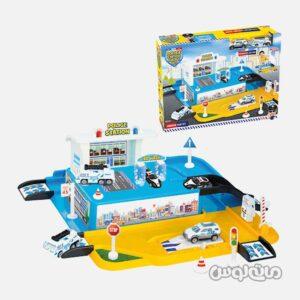 ست اسباب بازی گاراژ پلیس کوچک همراه با 2 ماشین دد