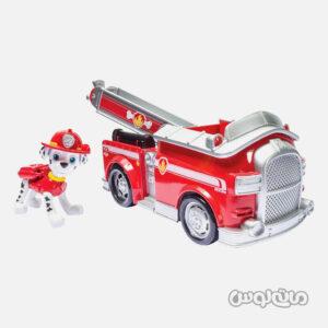 ست فیگور مارشال همراه با ماشین آتشنشانی سری پاوپاترول اسپین مستر