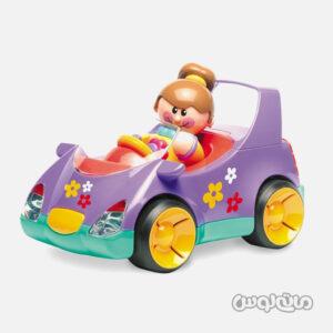 اسباب بازی ماشین بنفش با دختر تولو