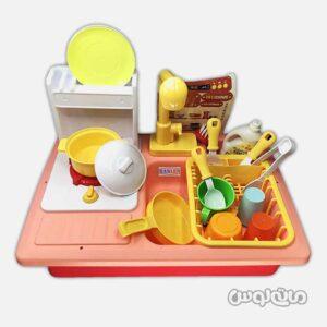 اسباب بازی سینک آشپزخانه 2 در 1 قرمز وی یان تویز
