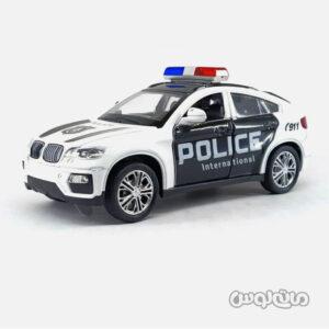اسباب بازی ماشین بی ام دبلیو پلیس عقب کش موزیکال هی کای