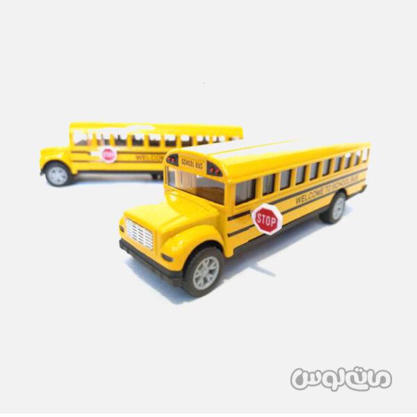 اسباب بازی اتوبوس مدرسه عقب کش 1:32 تیان دو
